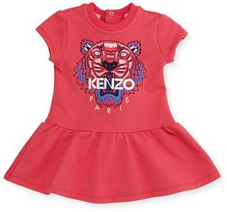Kenzo Cap-Sleeve Tiger Fit-and-Flare Sweat Dress, Fuchsia, Size 6M-2 $105 thestylecure.com