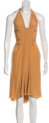 Versace Silk Asymmetrical Dress w/ Tags