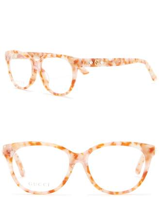 Gucci 53mm Rounded Cat Eye Optical Frames