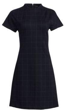 Theory Dolman Short-Sleeve Shift Dress