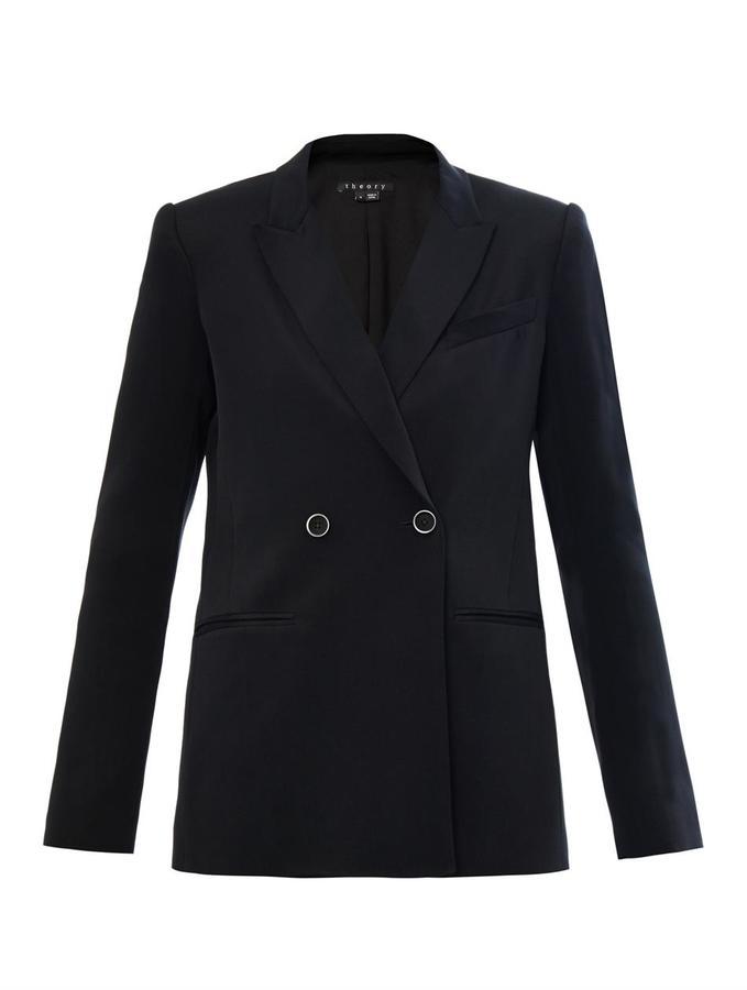 Theory Jannison silk jacket