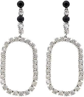 Saint Laurent XL Smoking oval drop crystal earrings