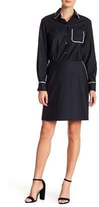 Paul & Joe Sister Fanny Wool Blend Chest Pocket Dress
