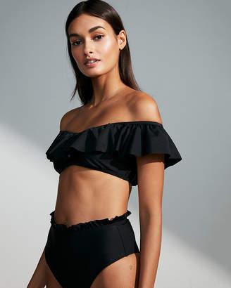 Express Ruffle Scoop Neck Bikini Top