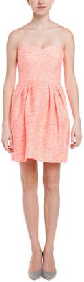 Shoshanna Orange Tweed Strapless Dress
