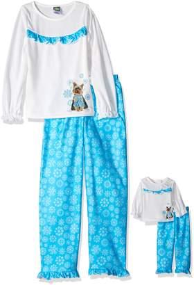 Dollie & Me Little Girls' Winter Puppy Sleepwear Set