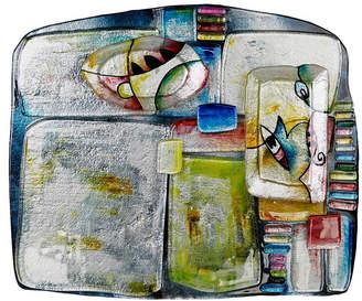 """Jasmine Art Glass 16"""" x 13"""" Cheese Plate"""