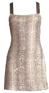Ramy Brook Adrian Snake-Print Mini Dress