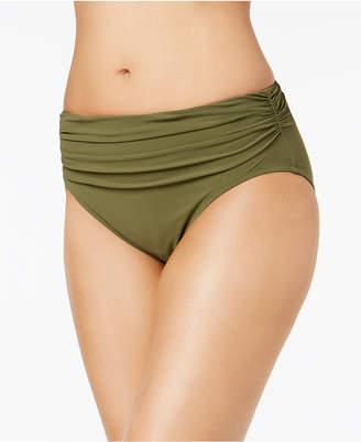 Gottex Profile by High-Waist Ruched Bikini Bottoms Women Swimsuit