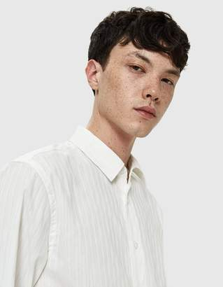 Saturdays NYC Laszlo Stripe L/S Shirt in White