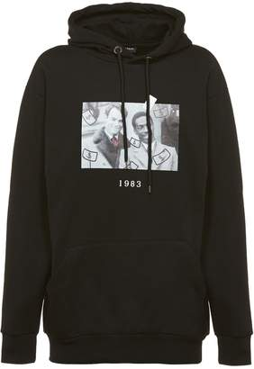 Throw Back Printed Hoodie