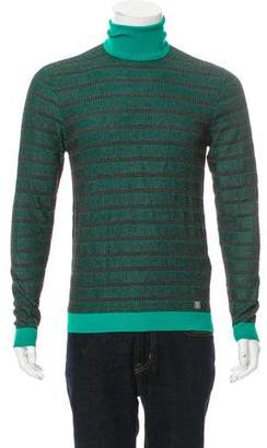 Versace Striped Turtleneck Sweater