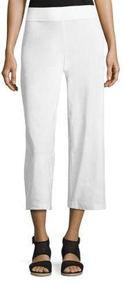 Eileen Fisher Wide-Leg Washable-Crepe Cropped Pants $168 thestylecure.com
