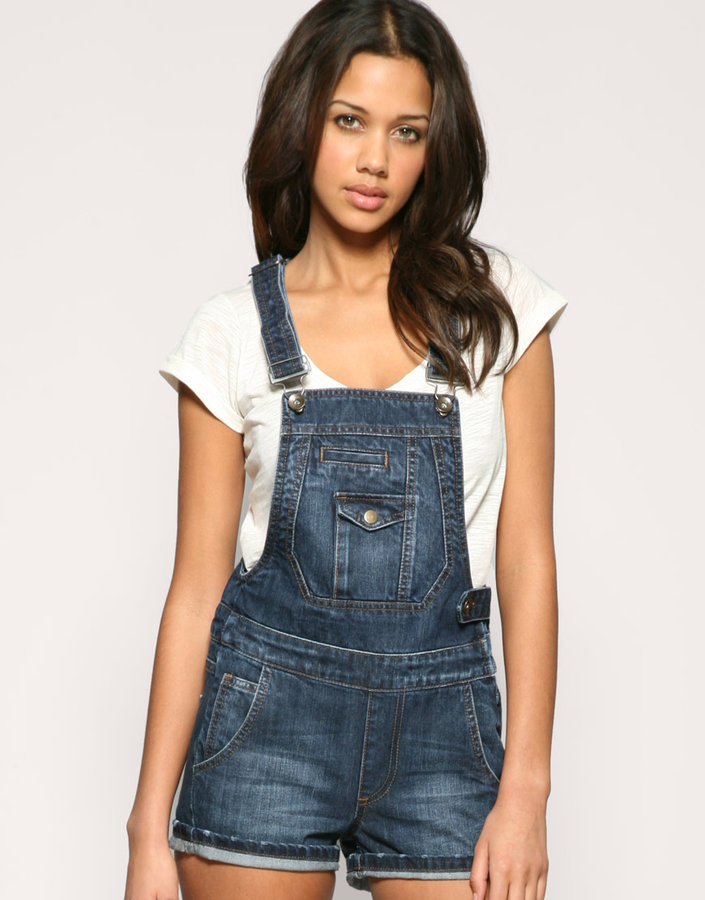 ASOS Denim Dungaree Playsuit