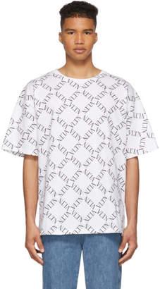 Valentino White VLTN Grid T-Shirt