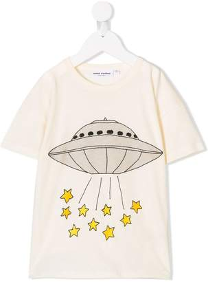 Mini Rodini spaceship print T-shirt
