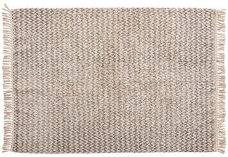 Hubsch - Rug, woven, cotton, white/grey