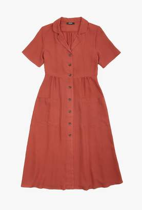Azalea Collared SS Button Down Midi Dress