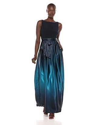 S.L. Fashions Women's Ombre Satin Long Party Dress