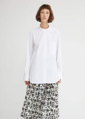 Sara Lanzi Oversized Cotton Poplin Shirt
