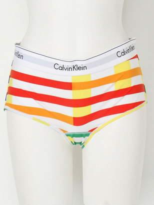 Calvin Klein (カルバン クライン) - CALVIN KLEIN UNDERWEAR (W) カルバンクライン レディース 下着 コットン パンツ MODERN COTTON ストライプボーイショーツ カルバン・クライン インナー/ナイトウェア