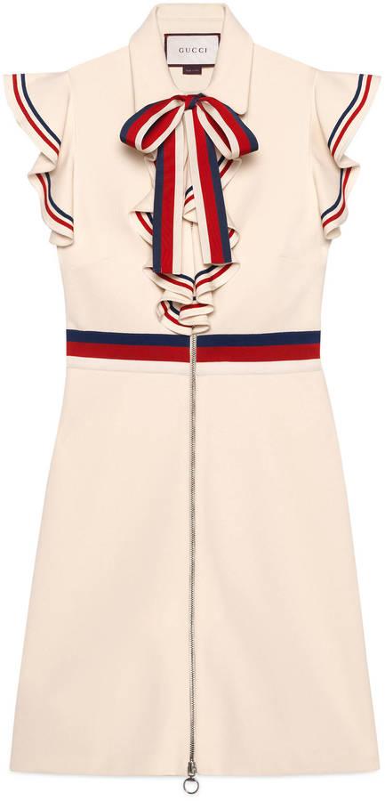 GucciSylvie Web stretch jersey dress
