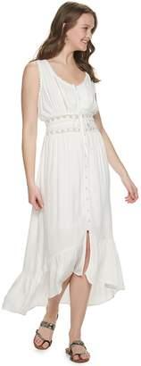 American Rag Juniors' Mixed Media White Maxi Dress