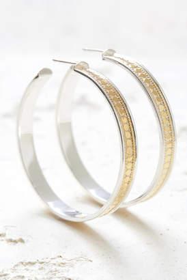 Anna Beck Large Gold Hoop Post Earrings