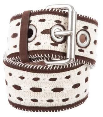 Ermanno Scervino Nubuck-Trimmed Waist Belt