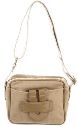Tila March Leather-Trimmed Crossbody Bag