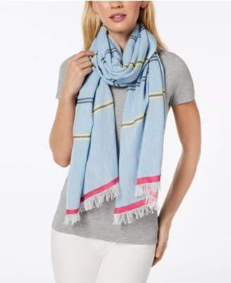 Echo Cabana Stripe Cotton Scarf & Cover-Up