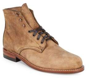 Wolverine Round Toe Leather Boots
