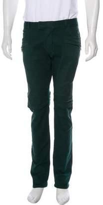 Balmain Twill Moto Slim-Fit Jeans