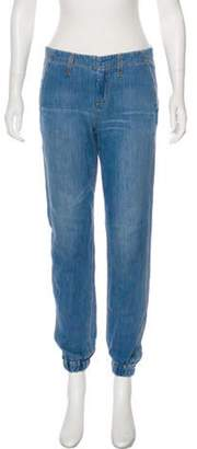Rag & Bone Mid-Rise Straight-Leg Pants Blue Mid-Rise Straight-Leg Pants