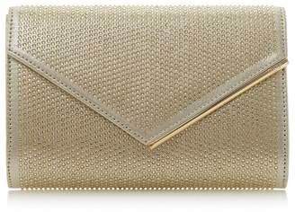 Dune Gold 'Evaleen' Diamante Detail Clutch Bag