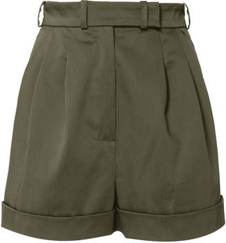 Martin Grant Pleated Cotton Shorts