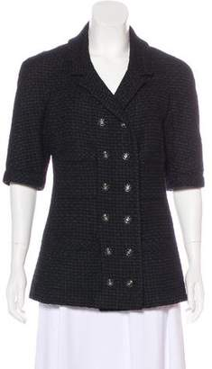 Chanel Tweed Half Sleeve Jacket