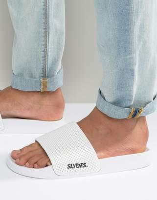 Slydes Slider Flip Flops Perforated