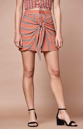 KENDALL + KYLIE Lottie Moss Wrap Front Tie Skirt