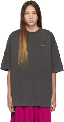 Balenciaga (バレンシアガ) - Balenciaga ブラック ミニ ロゴ オーバーサイズ T シャツ