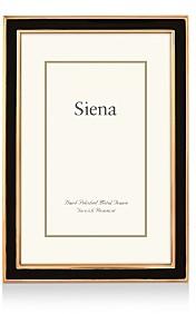 Siena Black Enamel with Gold Frame, 5 x 7