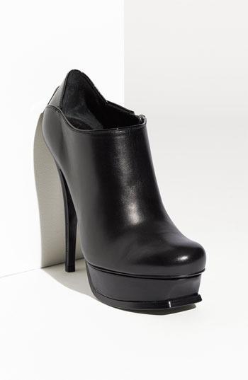 Saint Laurent 'Tribute' Platform Bootie Womens Black Size 40 EU 40 EU