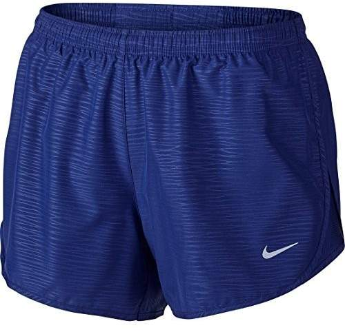 Nike Women's Dri-Fit Modern Embossed Tempo Running Shorts-Deep Royal Blue-XL