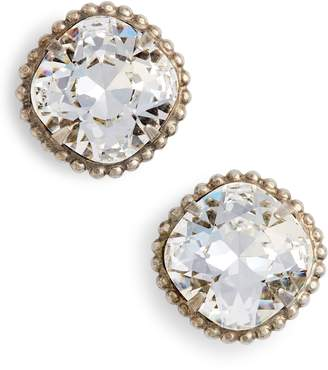 Sorrelli Cushion Cut Solitaire Stud Earrings