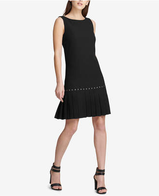DKNY Drop-Waist Pleated Dress