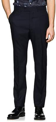 Officine Generale MEN'S JACQUES WORSTED WOOL STRAIGHT-LEG TROUSERS - NAVY SIZE 48 EU