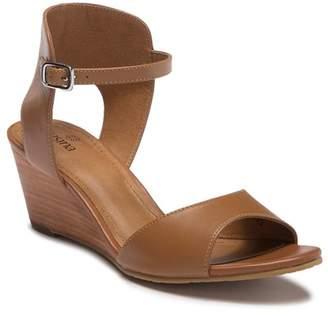 Susina Tresa Leather Wedge Sandal