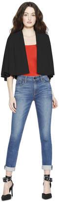 Alice + Olivia Marjory Suede Pleated Sleeve Jacket