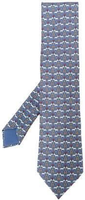 Hermes Pre-Owned 2000's horse print tie