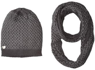 Betsey Johnson Net Worth Two-Piece Set Infinity Beanie Beanies